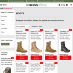 Rocky Boots up to 37% Off (e.g. C4T Trainer Military Boot was $190, now $120) +  $18.50 Shipping @ Crossfire