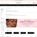 20% off Benefit Cosmetics +  Free Standard Shipping with $20 Order @ Adore Beauty