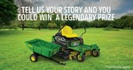 Win a Ride on Lawn Mower and Poly Cart Worth $5490 from Deere