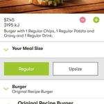 Burger Combo Deluxe: Fillet or Zinger Burger, Regular Chips, Potato & Gravy & 375ml Can $7.45 @ KFC via App