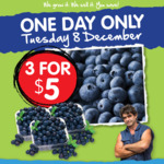 [WA] Blueberries 3 for $5 (One Day Only) @ Spudshed
