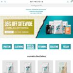 35% off Sitewide + Extra 5% off Protein (Free Shipping with $150 Order) @ My Protein