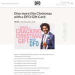 Bonus 10% Value on DFO Gift Card Purchases @ DFO