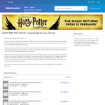 [VIC] Harry Potter and The Cursed Child - Buy Part One, See Part Two for Free via TicketMaster (Melbourne Princess Theatre)