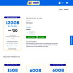 365 Days Prepaid Mobile 120GB + Unlimited Talk & Text $30 (Was $150) - New Customers Only @ Catch Connect