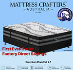 Up to 40% off MC 7 Zone Pocket Spring Mattresses & Zeds Memory Foam Mattress: Single from $182.66 + Del @ Mattress Crafters eBay
