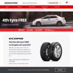 Buy 3 Ecopia (Car or SUV) Tyres, Get The 4th Tyre Free @ Bridgestone