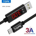 TOPK One Piece USB Type C Fast Charging with Digital Display Mobile Phone Cable US$1.18 (~A$1.52, New Users) Delivered @ DHgate
