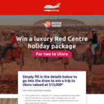 Win a Luxury Red Centre Holiday Package for 2 Worth $13,000 from Tourism NT