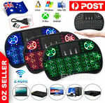 [eBay Plus] i8 Wireless Backlit Mini Keyboard & Touchpad $5.95 Delivered @ ewook2014 eBay AU