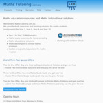 Years 7-10 Mathematics Step by Step Solutions - Buy One Get One Free: 2 for $5 @ MathsTutoring