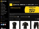 The SKINS Summer Sale - up to 80% off Selected SKINS Compression Tops & Tights - Free Post
