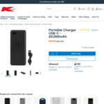 Anko 20000mAh USB & USB-C Powerbank $20 in-Store / C&C /+ Delivery ($0 with $65 Order) @ Kmart