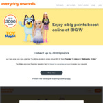 Everyday Rewards - Collect up to 3000 Points on Selected Toy Mania Items @ Big W (Online Orders Only)
