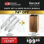 Baccarat Damashiro Santoku Knife Set 3 Piece & Knife Block Bundle for $79.99 (Was $379.99) Delivered @ Baccarat