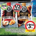 ½ Price: Red Rock, Smith's or Doritos Party Size $3.50, Poppin Popcorn 4 Pk $2.77, Magnum 4-6 Pk or 440ml Tubs $4.50 @ Coles