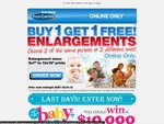 Harvey Norman - Buy 1 Get 1 Free ***Photo*** Enlargements - Online Only