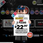 Domino's 3x Traditional / Chefs $19.95 Pickup