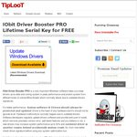 IObit Driver Booster PRO Genuine Licence for FREE