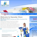 House Clean from $60, Carpet Steam Cleaning 3 Rms $50 @ Squeaky Clean (Melbourne)