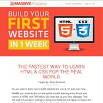 80% off Online Course: Build Your First Website in 1 Week with HTML5 and CSS3