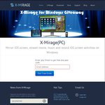 X-Mirage [iOS Screen Mirroring for PC] - Free, Save $16