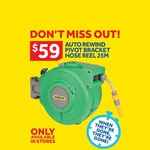 25m Hozelock Auto Reel - $59 Instore Only Masters Home Improvement