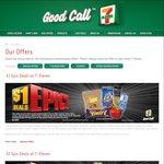 """7-Eleven """"Epic Deals"""" - $1 Cadbury/Up & Go, $2 Rockstar/Allens, $3 Maximus and More"""