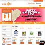 Supps R Us 15% off Sitewide - Valentine's Day Only