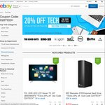 20% off Tech Deals from Selected Stores (The Good Guys, Futu, Dell, Sony, Kogan, Bing Lee, Optus, Ted's etc) @ eBay