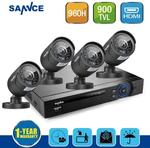 SANNCE 8CH CCTV System 1080P DVR HDMI 4PCS 900TVL IR Night Vision System $169.90 Was $325.90 and Free Delivery @ Oz Discount