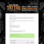 2 for 1 Sydney Rites of Passage Tattoo Festival Tickets 14-16 October