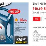 Shell Helix HX7 10w-40 $19.99 (Save $16.89) @ Supercheap Auto from Wed 19th Oct