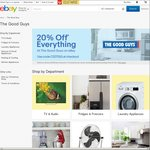 20% off up to 3 Transactions @ The Good Guys eBay