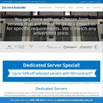 Up to 56% off Dedicated Servers - Prices from $99/Month @ Servers Australia