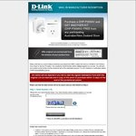 D-Link DHP-P309AV Mini Powerline Adapter (Buy 1 Kit ($97), Get 1 Kit Free)