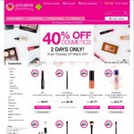 40% off Cosmetics @ Priceline - Wednesday 22nd & Thursday 23rd March