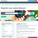 Save 85% on .Photo Domains, from $3.99 USD (~$5.50 AUD) @ OnlyDomains