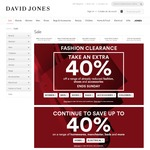 Extra 40% off Already Reduced Fashion, Shoes & Accessories @ David Jones eg. 59% off Armani Jeans Nylon Packable Backpack $41.40