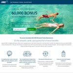 ANZ Rewards Travel Adventures Credit Card - 60K Velocity Points + Complimentary Virgin Flights and 2 Lounge Pass $225 Annual Fee