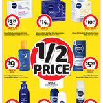 1/2 Price all Nivea Skin Care/Sun Care/Body Care/Mens, 40% Off L'Oreal Skin care, Palmolive Hand Soap 1L Refill $3.25 @ Coles
