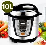 SOGA Electric Pressure Cooker Stainless Steel 10LNonStick $189.90 Delivered from HeyHey.com.au