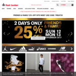 Foot Locker 25% off Online Site (Includes Sale Items)