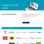 AmEx Statement Credit: Spend $75 at 1 of 43 Online Stores, Get $25 Back (Menulog, TM Lewin etc)