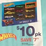 Hot Wheels Basics 10 for $10 @ Big W