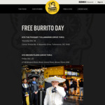 Free Burrito 12PM-7PM, 14/12 @ Guzman Y Gomez (Foodery Tullamarine, VIC)