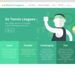 Oz Tennis Leagues Summer Season 2018 for $25 (Early Bird Promotion: $5 off) (Adelaide/Brisbane/Canberra/ Melbourne/Perth/Sydney)