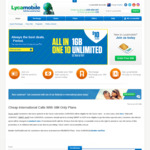 Lycamobile Unlimited National Calls & Texts +6GB Data $9.9 ($29 after) or 16GB $11.9 ($39 after) [New Customers, 1st Month Only]