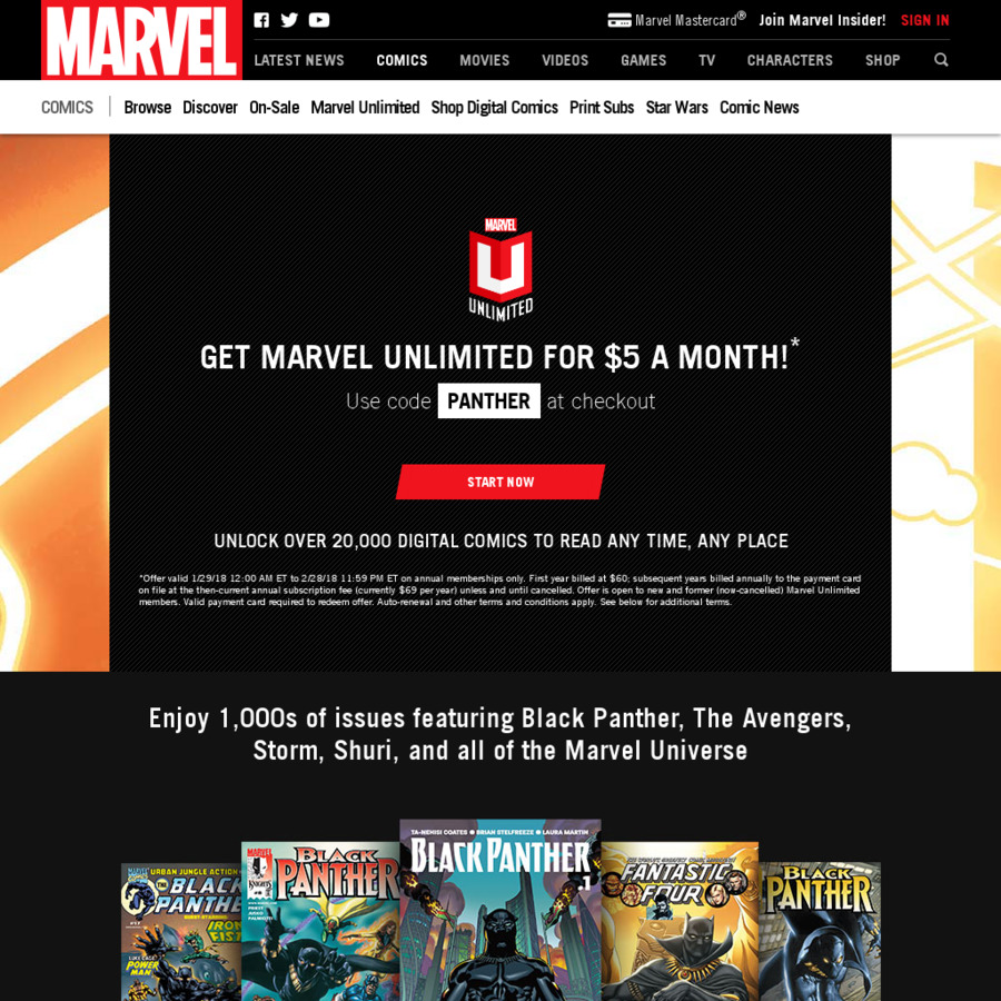 Marvel Unlimited (Online Comics Library) - Annual Subscription AUD $77.22 / USD $60 (Usually US ...