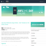 Free: AWS Cloud Online Training (1 Day Training Event for 4hrs Approximate & Live Q&As) @ Amazon AWS Cloud